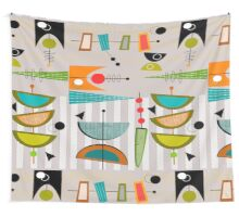 Mid-century Modern Abstract #55 Wall Tapestry