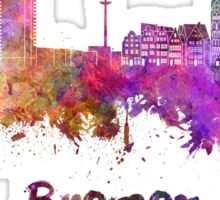 Bremen skyline in watercolor Sticker