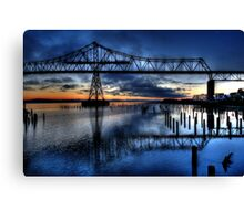 Astoria Bridge connecting Oregon to Washington (USA) Canvas Print