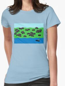 Fishing village Womens Fitted T-Shirt