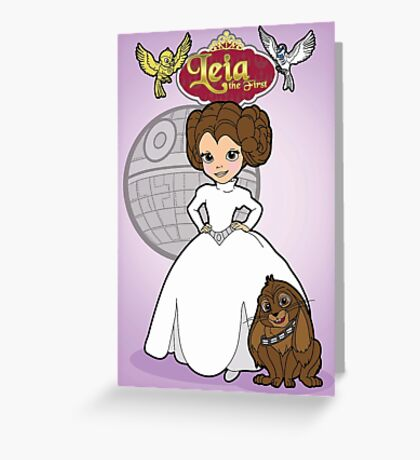 A Forceful Princess Greeting Card
