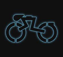 Grid Cyclist (halftone) by justinglen75