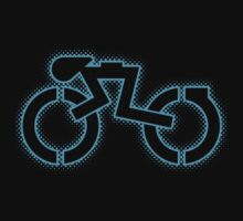 Grid Cyclist (halftone) Kids Clothes