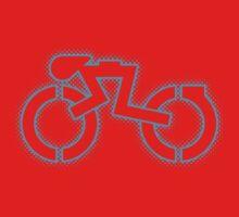 Grid Cyclist (halftone) Kids Clothes