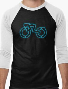 Grid Cyclist (halftone) Men's Baseball ¾ T-Shirt