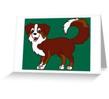 Red Tricolor Australian Shepherd Greeting Card