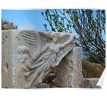 Angel Flies near the Temple of Domitian - Ephesus Poster