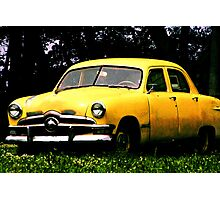 Taxi Cab Yellow Chevy Photographic Print