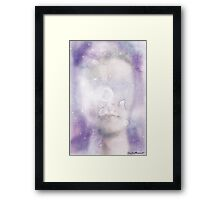 Abstract Watercolor Portrait Framed Print