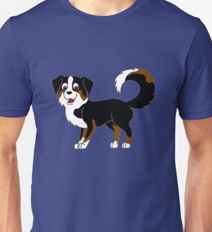 Black Tricolor Australian Shepherd Unisex T-Shirt