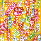 Words On Yellow - iPhone Case by Sammy Nuttall