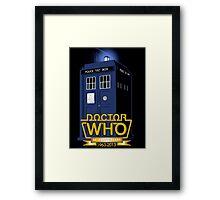 DR WHO TARDIS Framed Print