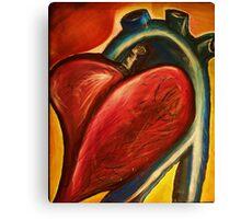 The heart of nursing Canvas Print