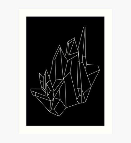 Crystal Black Art Print