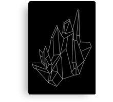 Crystal Black Canvas Print
