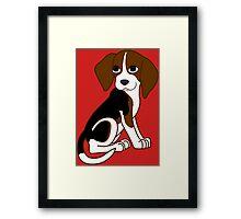 Cute Beagle Puppy Framed Print