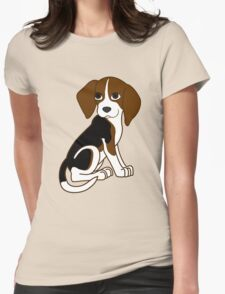 Cute Beagle Puppy Womens Fitted T-Shirt