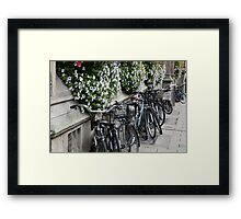 Oxford Bicycles. Framed Print
