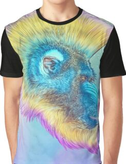 Mohawk Mandrill IN SPACE! Graphic T-Shirt