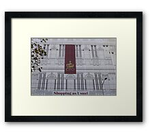 As Usual Framed Print