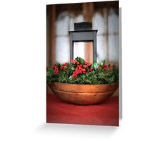 Seasons Greetings Christmas Centerpiece Greeting Card