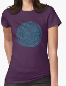 Turquoise spirals  Womens Fitted T-Shirt