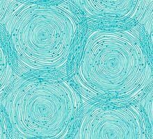 Turquoise spirals  by Silmen