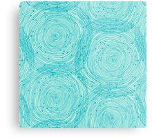 Turquoise spirals  Metal Print
