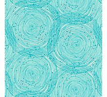 Turquoise spirals  Photographic Print