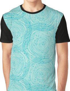 Turquoise spirals  Graphic T-Shirt