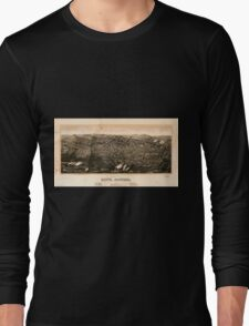 Panoramic Maps view of Butte Montana 1904 Long Sleeve T-Shirt