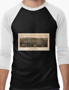 Panoramic Maps view of Butte Montana 1904 Men's Baseball ¾ T-Shirt