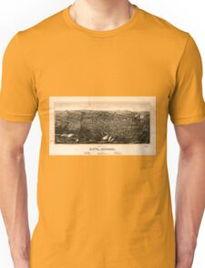Panoramic Maps view of Butte Montana 1904 Unisex T-Shirt