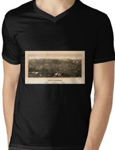 Panoramic Maps view of Butte Montana 1904 Mens V-Neck T-Shirt