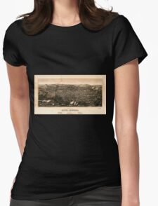 Panoramic Maps view of Butte Montana 1904 Womens Fitted T-Shirt