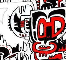 Red white & Black No.1 Sticker