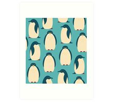 Happy penguins Art Print