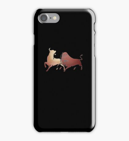 Bull Fight In Brown iPhone Case/Skin
