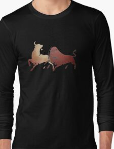 Bull Fight In Brown T-Shirt
