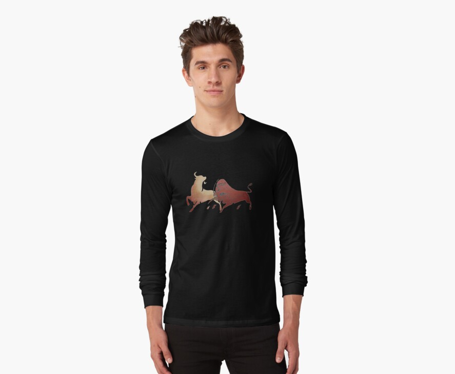 Bull Fight In Brown by taiche