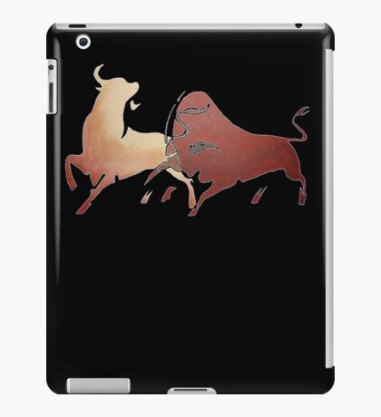 Bull Fight In Brown iPad Case/Skin
