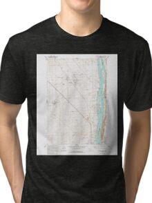 USGS Topo Map Washington State WA Wooden Island 244782 1992 24000 Tri-blend T-Shirt