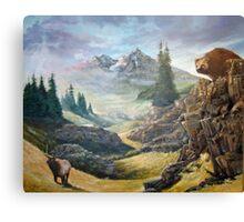 Drama at Mountain Pass Canvas Print