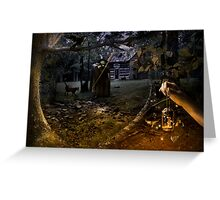 Witch's Cottage Greeting Card