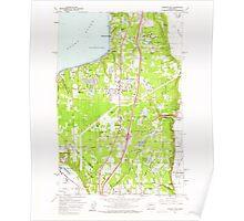 USGS Topo Map Washington State WA Poverty Bay 243264 1961 24000 Poster