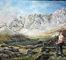 Alaska Range - Wordens Pass by Chris J Worden Gregg