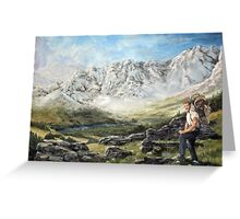 Alaska Range - Wordens Pass Greeting Card