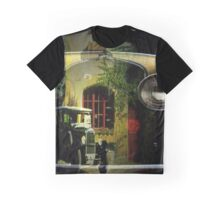 Antique car and house Graphic T-Shirt
