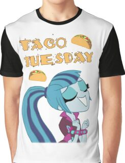 Sonata Dusk - Taco Tuesday - MLP FiM - Brony Graphic T-Shirt
