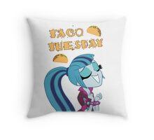 Sonata Dusk - Taco Tuesday - MLP FiM - Brony Throw Pillow